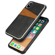купить Silicone Case for apple Iphone X XS XR Max PU Leather Back Case for iPhone 6 6S 7 8 Plus Cover Case with Cards Slots онлайн