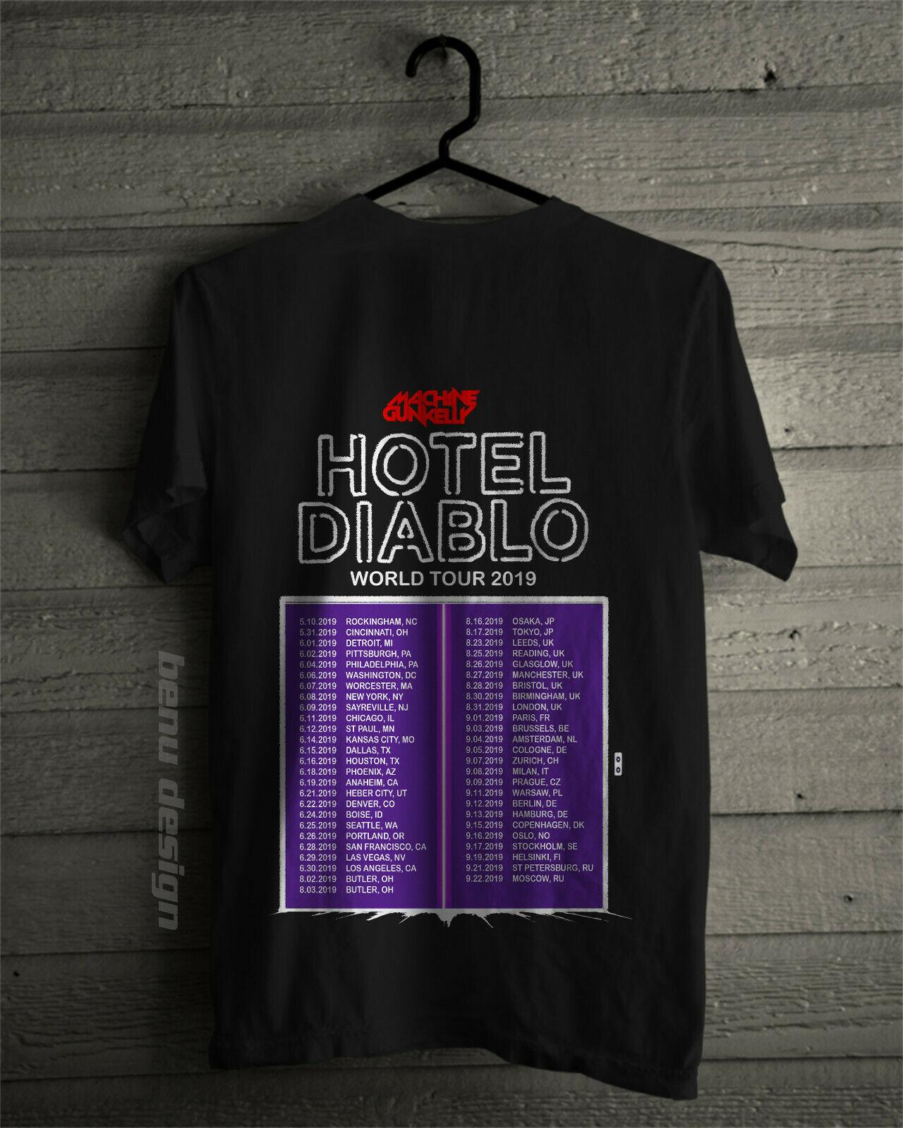 Machine Gun Kelly Mgk Hotel Diablo World Tour 2019 T-Shirt