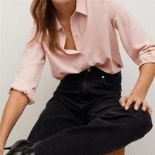 ZXQJ-Blusa de manga larga estilo Vintage para verano, camisa elegante con botones para mujer, cuello de solapa, 2021