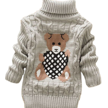 Sweaters Pullovers Turtleneck Knitted Girl Baby-Boys Children Infant Kids Winter Warm