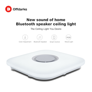 Image 2 - Modern intelligent LED ceiling light, APP control Bluetooth speaker RGB dimmable 36W/52W living room bedroom lighting 110V/220V