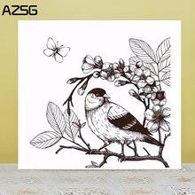Прозрачные штампы/уплотнения azsg для скрапбукинга «сделай сам»/изготовления
