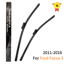 """Lâminas de limpador para ford focus 3 2011 2012 2013 2014 2015 2016 ,28 """"+ 28"""" r borracha silicone pára brisa limpador acessórios do carro automático"""