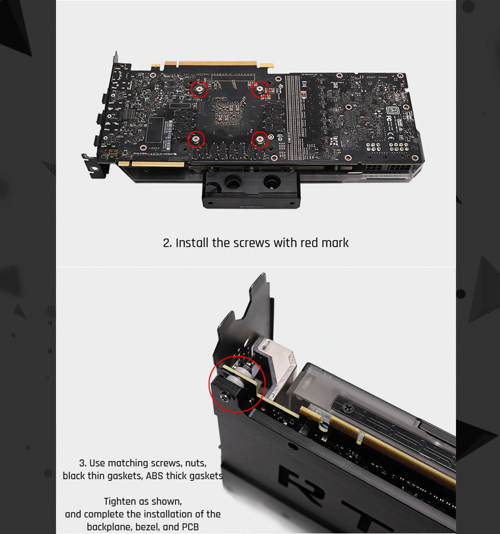Barrowch FB-NVTT-01, Aluminum Alloy Back Plate, Dedicated For Founder Edition/Reference Series RTX2080Ti GPU