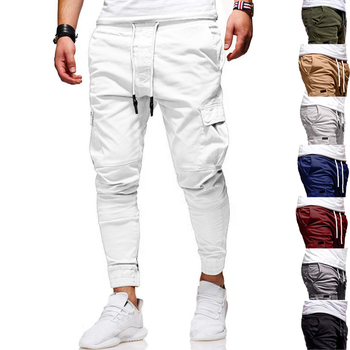 Men Pants New Fashion Casual Jogger Pants Fitness Bodybuilding Gyms Pants Sweatpants Trousers
