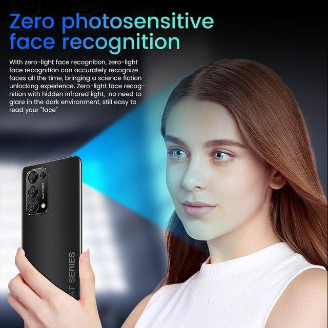 Smart Mobile Phone Reno 5 Pro 7.3Inch Cellphone 16MP+28MP Camera Telephone Full Screen Cheap Android Smartphone Telefone Celular 2