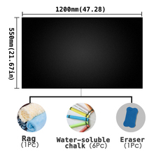 Teaching Graffiti Safe Non-toxic Chalk Self-adhesive Blackboard Wall Sticker Dry Erase Painting Board Size 550 * 1200mm