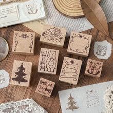 Sello de goma de madera de doble suerte para colección de recortes, Kawaii, Deco, bricolaje, sellos de madera estándar, suministros para diario