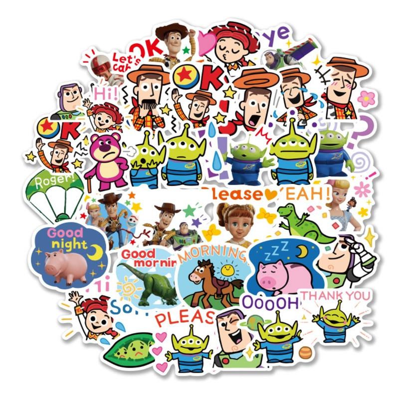 80PCS Disney Toy Story 4 Sticker Forky Woody Alien Buzz Lightyear Waterproof Stickers Phone Book Refrigerator Laptop Stickers