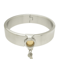 Ожерелье-чокер из нержавеющей стали со стоячим замком, ожерелье-чокер, фетиш, ювелирные изделия с ограничителями для связывания, набор стал...