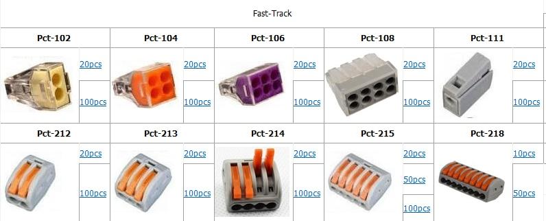 100pcs 1 trou connecteur de c/âble de fil /électrique de bornier de c/âblage rapide longueur de d/énudage de 10mm emp/êchent la fuite de connecteur /électrique de fil /électrique ignifuge PCT-111