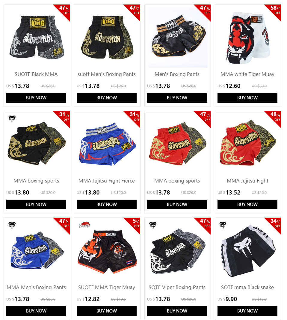 MMA Jujitsu Fight Grappling Men's Boxing Pants kickboxing MMA shorts Short Tiger Muay Thai boxing shorts sanda cheap boxing