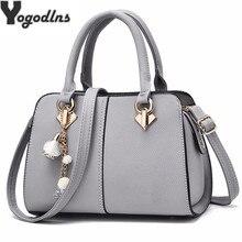 Женская сумка тоут с украшением, брендовый однотонный вечерний кошелек, повседневный мессенджер через плечо, портфель на плечо