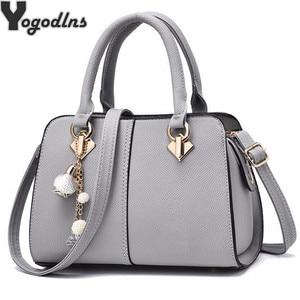 Image 1 - NUOVE donne di marca hardware ornamenti solido totes borsa della signora di alta qualità del partito della borsa di crossbody casuale sacchetti di spalla del messaggero