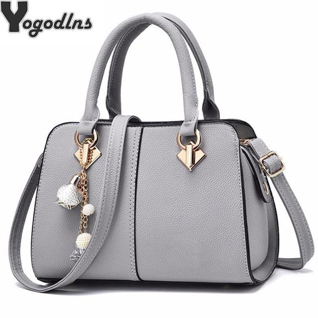 NUOVE donne di marca hardware ornamenti solido totes borsa della signora di alta qualità del partito della borsa di crossbody casuale sacchetti di spalla del messaggero