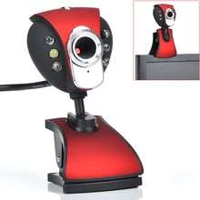 ABKT-New USB 500 6-LED Webcam Camera Webcam with miniphone for PC Laptop(China)