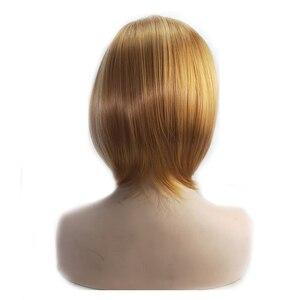 Image 4 - HAIRJOYตรงสั้นตรงวิกผมสีบลอนด์สีน้ำตาลผสมวิกผมจัดส่งฟรี4สี