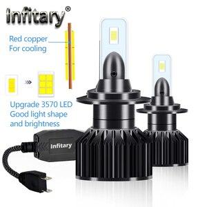 Image 2 - Infitary 2 adet araba H4 H7 Led 20000lm 6000k 6500k kafa lambası ampulleri 100W 12V 3570 cips H1 h11 9005 9006 HB3 HB4 otomatik sis lambası