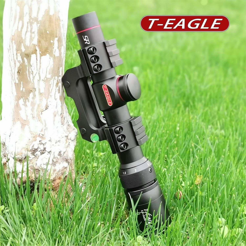 Teagle R1.5-5X20 tático rifle sniper, caça óptica,