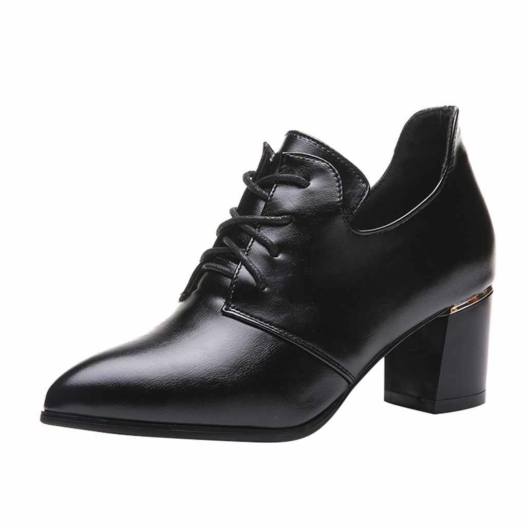 2019 รองเท้าหนังสั้นผู้หญิงลูกไม้ Elegant ข้อเท้ารองเท้าหนารองเท้าบูทรองเท้ารองเท้าผู้หญิงตื้นผู้หญิงฤดูหนาวรองเท้า