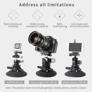 Image 4 - Selens 5.9 power grip aspiração a vácuo copo sistema de montagem da câmera para câmera dslr vídeo smartphone gopro
