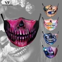 Masque facial en tissu imprimé 3D pour adultes, Cosplay VIP FASHION, tête De mort Joker drôle, La Casa De Papel, fête d'halloween