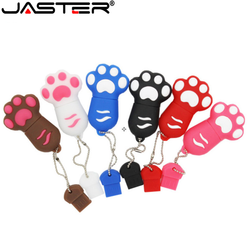 JASTER Free Delivery Fashion Cartoon Cat Claw Flash Card Usb Memory Stick 32gb/16gb/8gb/4gb Usb 2.0 Memory Card Fashion Memory