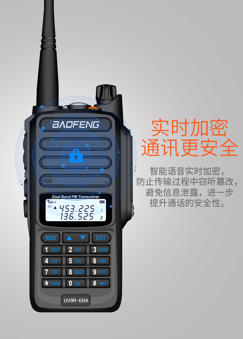 25KM BaoFeng UV-9R ERA upgraded version of UV-9R PLUS two way radio VHF UHF portable CB radio Waterproof walkie talkie