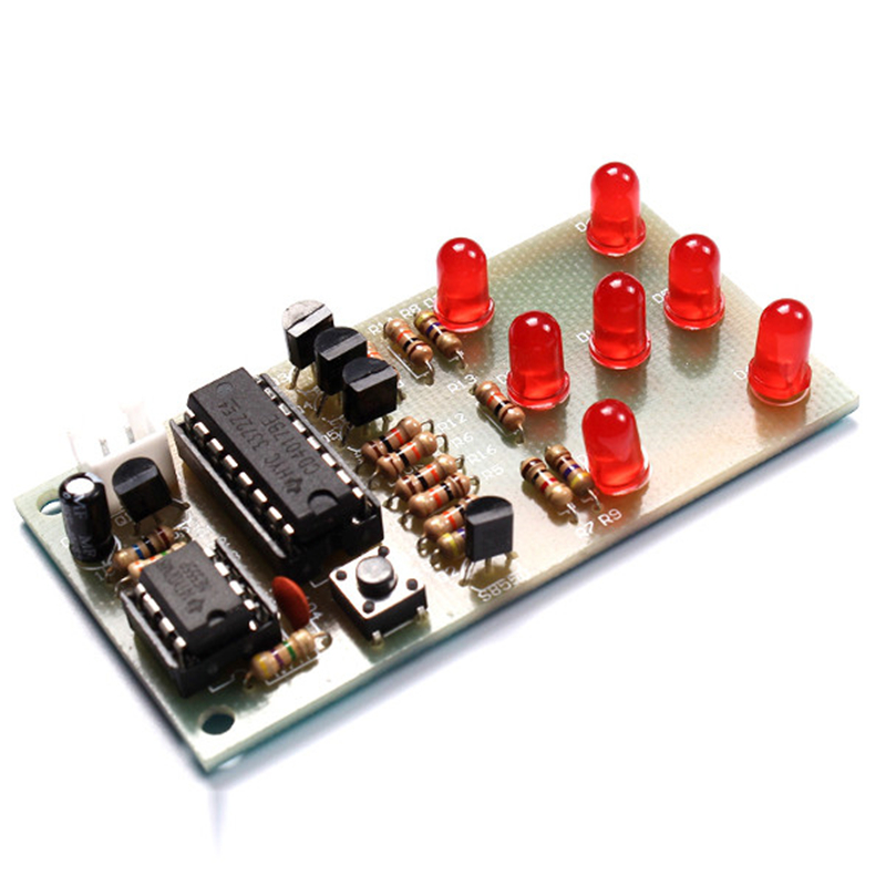 Electronic Dice DIY Kit 5mm Red LED Interesting Parts NE555 CD4017 Electronic Production Suite Assemble Accessory