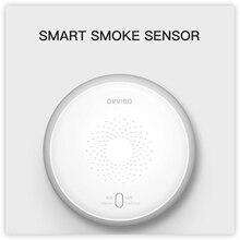 حساسات الدخان الذكية Orvibo 2021 تمنع من الدخان والحريق عن بعد تحقق من الحالة في منزلك عبر هاتف ذكي