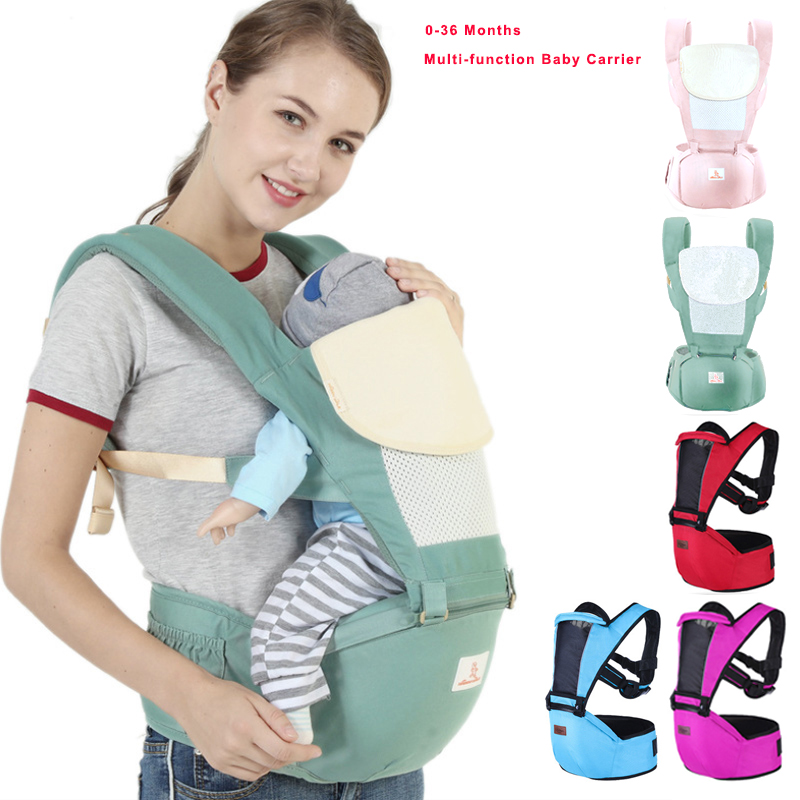 0 36 Months Baby Carrier Ergonomic Carrier infant Baby Hipseat Front Facing Kangaroo Baby Wrap Sling for Baby Travel waist stool in Backpacks Carriers from Mother Kids