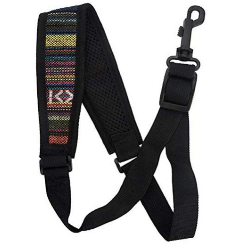 Saxophone Strap, Adjustable Single Shoulder Sax Strap Portable Cotton Neck Sax Strap(Folk Style)