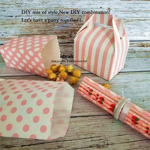 Image 5 - ideals DIY Baby Shower Pink Girl Decor Party Supplies Tabletop Gift Favor Bags,Candy Box, Paper Straws, Tassel Garland, Confetti
