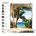 Тропический Фотофон Laeacco, море, пляж, пальмы, деревья, фотофоны, Летний портрет, Фото фоны, Aloha, фотосессия для вечеринки