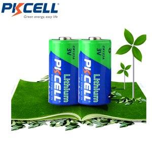 Image 4 - 4 X PKCELL 2/3A pil CR123A CR123 CR 123 CR17335 123A CR17345(CR17335) 16340 3V lityum pil piller için kamera