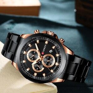 Image 2 - Najnowszy CURREN męskie zegarki Top marka luksusowy wojskowy stalowy zegarek sportowy dla człowieka męski wodoodporny męski zegar Relojes