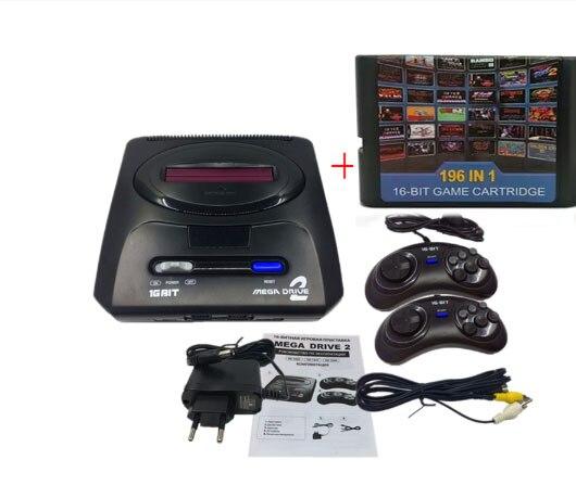 16 bit SEGA MD 2 Video Spiel Konsole mit UNS und Japan Modus Schalter, für Original SEGA griffe Export Russland mit 196 klassische spiele