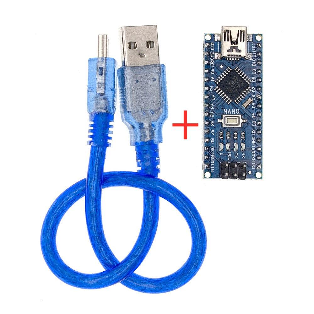 Nano с Загрузчиком совместимый Nano 3,0 контроллер для arduino CH340 USB драйвер 16 МГц Nano v3.0 ATMEGA328P/168 P - Цвет: Welded-with Cable