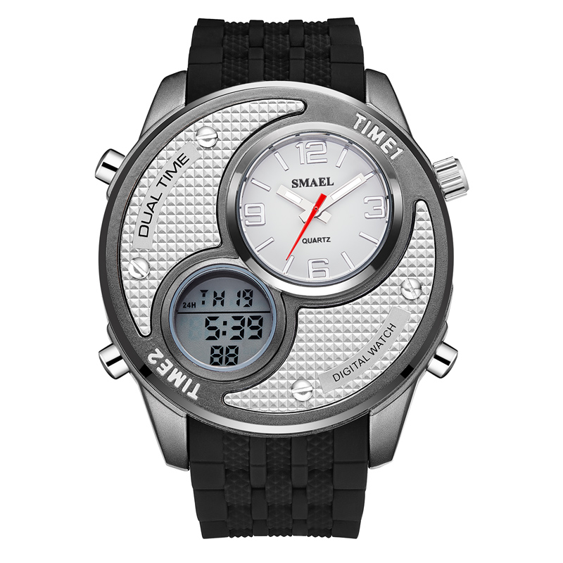 Man <font><b>Watch</b></font> 2019 Fashion SMAEL Multiple Time Zone Analog Digital Quartz <font><b>Watch</b></font> Men Sports <font><b>Watches</b></font> relogio masculino horloge mannen image