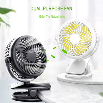 2020 USB Clip Fan Cooling Mini Fans Portable 4 Speed Super Mute Cooler Spin for Office  Desktop Cool Car Home Travel Gadgets