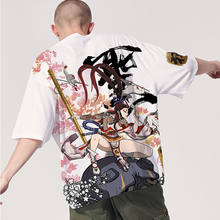 Japanese harajuku Tide brand short-sleeved men and women summer street hip hop T-shirt Chinese style lovers with T-shirt top(China)