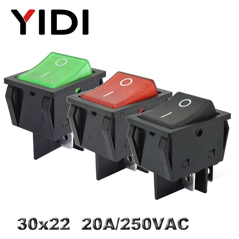 Регулируемый переключатель KCD4, 30x22, 30 А, 220 В, 20 А, В