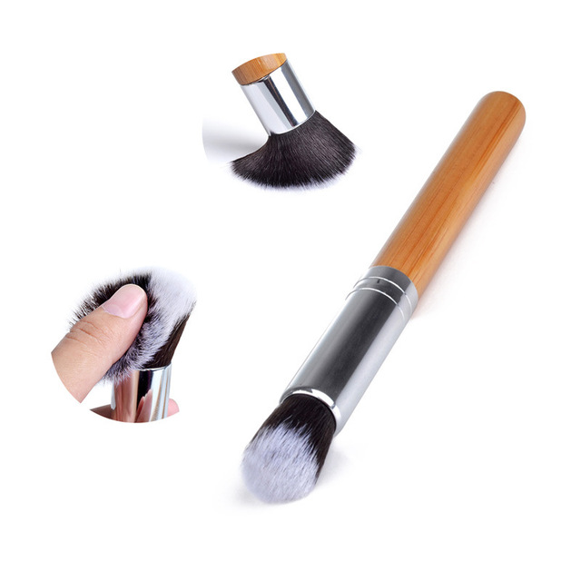 10/11PCS Fashion Bamboo Makeup Brushes Set with Bag Cosmetics Foundation Make Up Brush Tools Kit for Powder Blusher Eye Shadow 3
