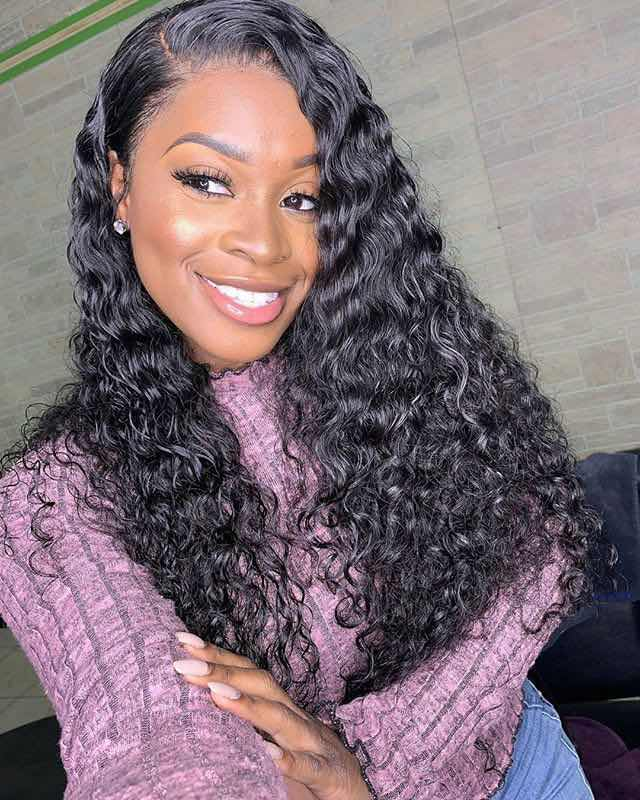 Deep Wave Bundles With Frontal Brazilian Hair Bundles Human Hair Extension 3/4 Human Hair Bundles With Closure Lumiere Hair Remy photo review