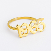 Custom Old English Number Year Rings 1990 1992 1995 1996 1999 Year Number Gold Ring for Lovers Custom Rings необычные кольца siemens wm 14e447oe