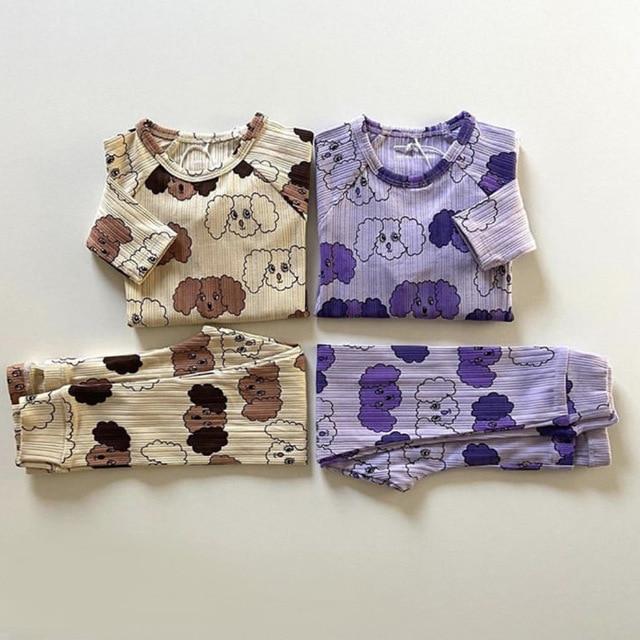 Kids Clothes Sets T-shirts 2021 New Spring MR Brand Girls Cartoon Pattern Dress Cotton Fashion Baby Romper Boys Casual Pants 6