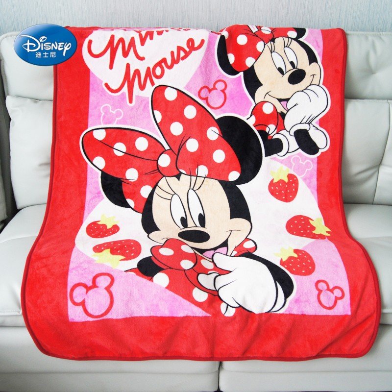 Disney Red Minnie Mouse Soft Coral Fleece Kids Blankets Throw 100x140cm  For Baby Girls Children Gift Bedroom On Bed Sofa
