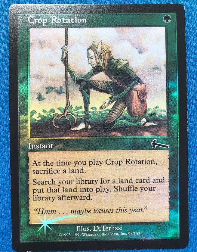 Crop Rotation	Urza's Legacy Foil Magician ProxyKing 8.0 VIP The Proxy Cards To Gathering Every Single Mg Card.