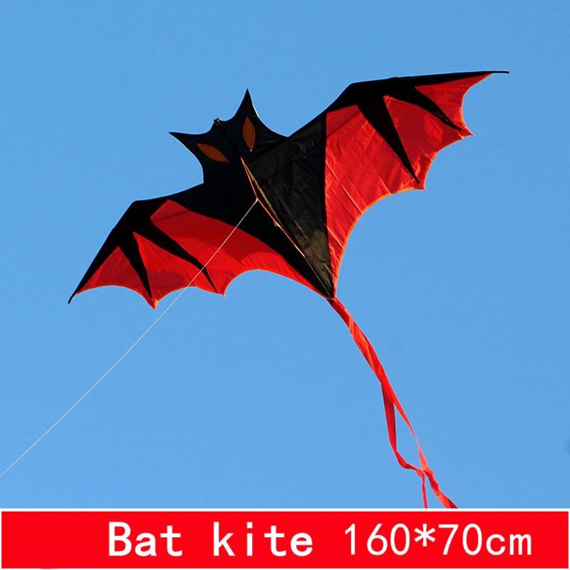 1.6m bat kite flying line ripstop nylon fabric outdoor toys kites for adults aqui lone reel bag parafoil bird kite board sports