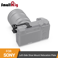 SmallRig Left Side Shoe Mount Relocation Plate for Sony a6600 Camera Quick Release Cold Shoe Extension Plate 2497